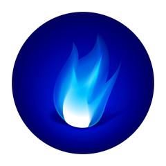 Gas fire icon
