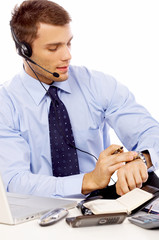 Handsome Young Male Sales Customer Service