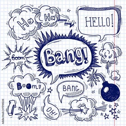 Comic text bubble blank - 71700226