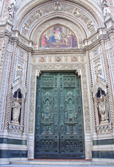 Entrance to the cathedral in Florence
