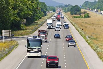 Heavy Summertime Interstate Traffic