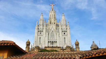 Templo del Sagrado Corazón en el Tibidabo de Barcelona