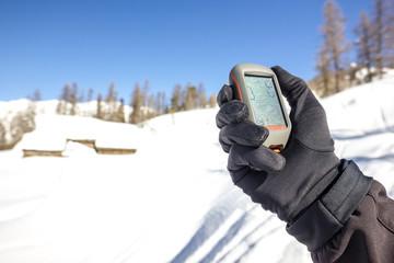 Gps in montagna in inverno
