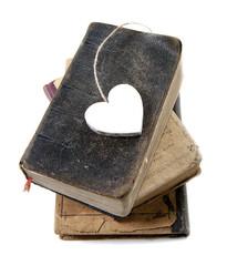 bouquins anciens passion coeur