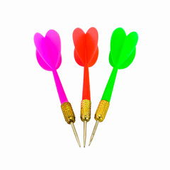 Colorful set of darts or arrow