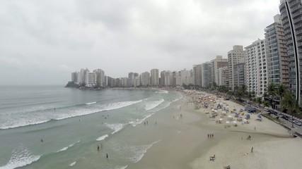 Summer day at Beach in São Paulo, Brazil