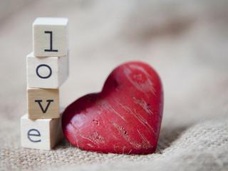 cubes love et coeur saint Valentin