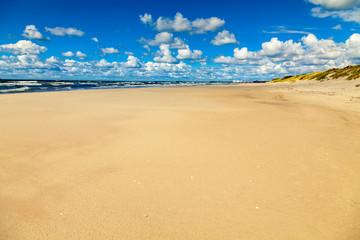 wet beach at the Baltic sea