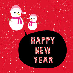 Happy new year greeting card13