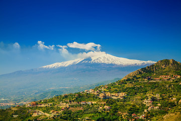 Etna from the town Castelmola