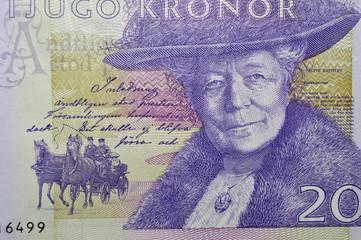 Selma Lagerlof swedish writer banknote