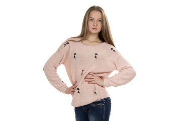 Photo of cute teenage girl