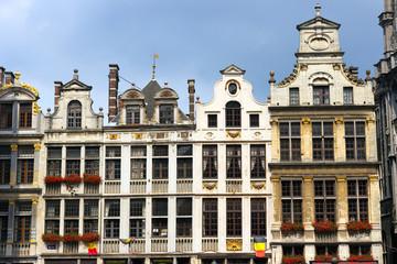 Buildings at Market square in Brussels. Belgium