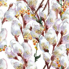 Willow seamless pattern