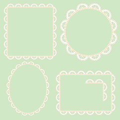 round, oval and rectangular delicate lace frame