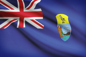 Flag blowing in the wind series - Saint Helena