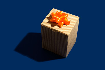 Cardboard box present