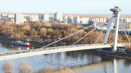 SNP Bridge at Bratislava, Slovakia
