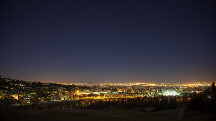 Night view from the hills of Bologna