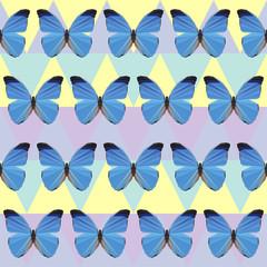 polygonal butterfly pattern