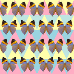 polygonal butterfly pattern