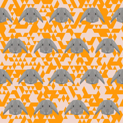 Polygonal rabbit pattern background