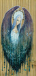 Blue angel painted on a wood