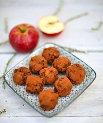 Sweet Dark Chocolate and Apple Truffles