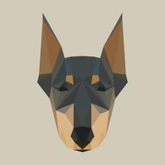 Doberman polygonal background
