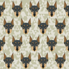 Doberman polygonal pattern background