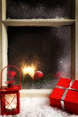 christmas decoration on a window 2