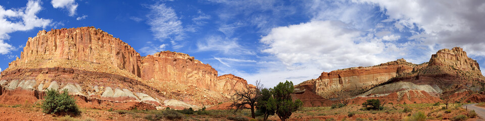 Panoramic View from Grand Wash Road Capitol Reef National Park