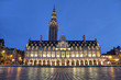 The university library in the evening, Leuven, Belgium