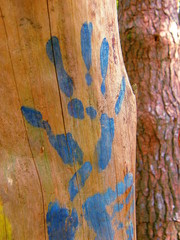 main peinte