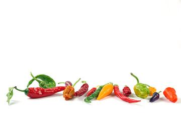 Verschiedene Pepperoni