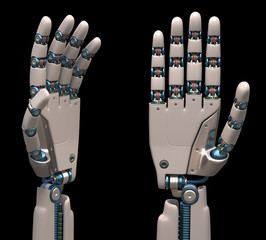 Robotic Hands. Clipping path included.