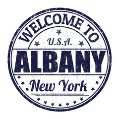 Welcome to Albany stamp
