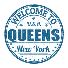 Welcome to Queens stamp
