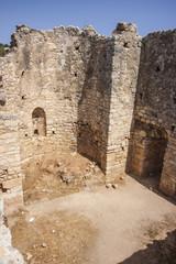 Interior rooms at public baths at Aptera, Crete
