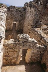 View of interior at public baths at Aptera, Crete