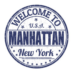 Welcome to Manhattan stamp