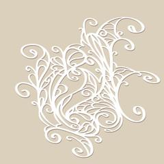 Vintage lace modern ornament