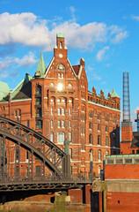 Speicherstadt warehouse district of Hamburg