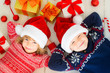 Children with Christmas decorations