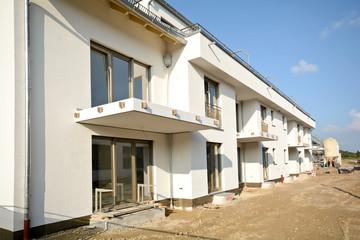 Wohnhaus - Bauarbeiten vor Fertigstellung