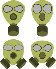 Vector illustration of abstract gas masks