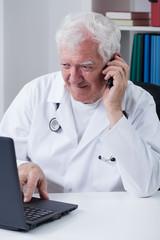 Modern senior doctor