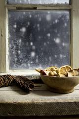 christmas decoration on a window 20