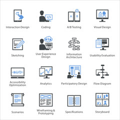 SEO & Usability Icons Set 2 - Bleu Series
