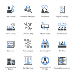 SEO & Usability Icons Set 1 - Bleu Series